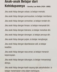 Semogaa Parenting Articles, Parenting Books, Parenting Quotes, Kids And Parenting, Reminder Quotes, Self Reminder, Sabar Quotes, Learn English Words, Quotes Indonesia