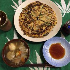 明日も仕出し弁当確定〜 - 20件のもぐもぐ - チヂミ、つみれのけんちん汁 by Lizardon