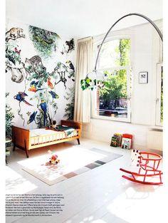 Chambre enfant déco tropicale, papier-peint panoramique | deco-floral-wallpaper-papier-peint-4