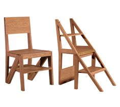 Scala Zero, a wooden chair that transforms into a small stepladder.