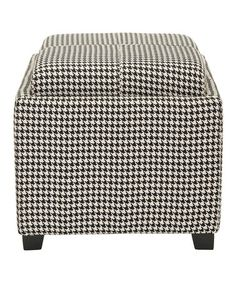 Take a look at this Hounds Tooth Harrison Single-Tray Ottoman by Safavieh on #zulily today! -- if only I could have anything houndstooth... but my Auburn allegiance says NO!