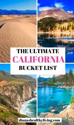 The Ultimate California Bucket List Locations. Here are the top places to visit in California. Beautiful locations in Northern California, Southern California and Central California. Must visit… California Travel Guide, Places In California, California Vacation, Visit California, Central California, Southern California, Pacific Coast Highway, Canada Travel, Travel Usa