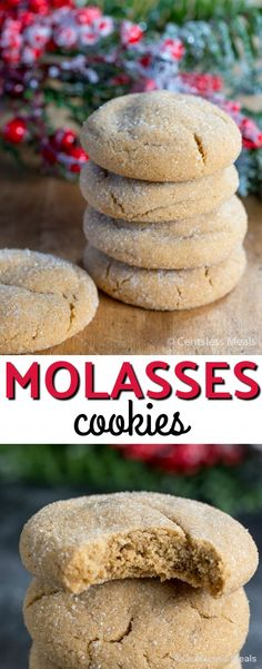 Molasses Cookies are such a wonderful, delicious cookie and definitely my family's favorite! This traditional cookie uses ground ginger, cinnamon and of course molasses! Rolled in sugar and baked to golden perfection, these are a deliciously spicy treat perfect for the holidays! #Holiday #Cookies #Molasses #EasyCookieRecipe