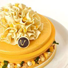 Mango-passion cake