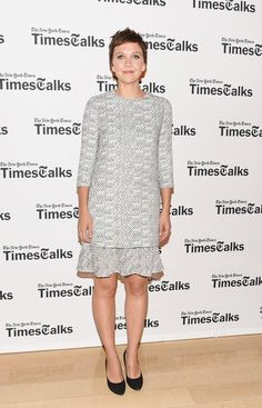 Pin for Later: Katie Holmes Isn't Alone in Looking Like She's Walking Down the Aisle Maggie Gyllenhaal Maggie Gyllenhaal at TimesTalks Presents: an Evening With Lucy Liu, Maggie Gyllenhaal and Mira Sorvino.
