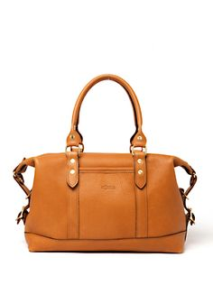 classic tan leather bag - can be used for the office, casual, everyday...can be worn over the shoulder or as a purse