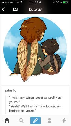 Doesn't even matter who said what AND ANOTHER THING! Not to judge the artist (seriously I love this) ALMOST everyone draws the archangels with TWO wing when they're supposed to have SIX. Just fyi <<<< Point being: this is beautiful. (๑•ᴗ•๑)♡