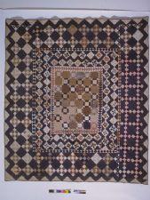 1825 - 1850 Rachel Burr Corwin's Framed-Center Pieced Quilt