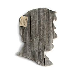 Abraham Lincoln, wall art,  made of recycled fence wood, Abe. $28.00, via Etsy.