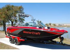 Jackson's choice of boat for the new house (MasterCraft X-25)...best for going to school!