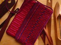 Handwoven boundweave clutch by Nancy Hoskins
