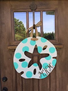 20 Shabby Chic Sand Dollar Door Hanger Custom by TheCoralAnchor Wooden Door Signs, Wooden Doors, Painted Sand Dollars, Shabby Chic, Burlap Door Hangers, Wooden Cutouts, Ikea, All I Ever Wanted, Painted Doors