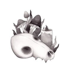 Inktober, Day 12. Olga Svart Illustration