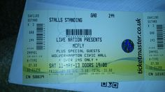 Concert tickets.
