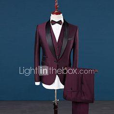 2d753741862ea Costume / Tailleur Homme,Couleur Pleine Décontracté / Quotidien Travail  Grandes Tailles simple Automne Hiver