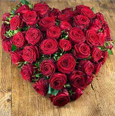 Rosenherz Rosen Box, Urn, Red Roses