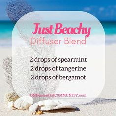 Best Summer Esssential Oil Diffuser Blends with FREE PRINTABLE-- recipes that smell like the beach, lemonade, a summer hike, time at the…