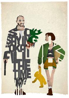 De Star Wars à Léon : des héros représentés en typographies - Konbini - France