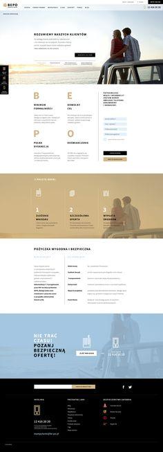 BEPO website layout - Niepewny.com