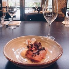 """It is time to celebrate the arrival of another long weekend in the nation's capital! Instagrammer @jemmascarr has the right idea with this meal of sashimi with radish, yuzu, nori and rice crisps from @abakercanberra. """"Yum! I think I might have to marry the chef."""" #visitcanberra"""