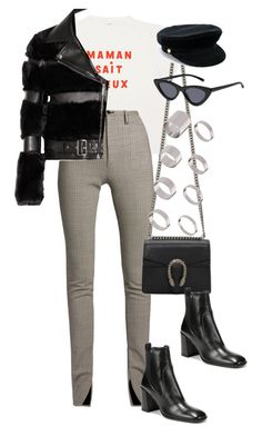 A fashion look from December 2017 featuring shirt top, faux fur moto jacket and leather trousers. Browse and shop related looks. Trendy Outfits, Cute Outfits, Fashion Outfits, Womens Fashion, Fall Outfits, Lara Fashion, Polyvore Outfits, Polyvore Fashion, Look 2018