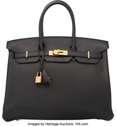 Hermes 35cm Plomb Clemence Leather Birkin Bag with Gold Hardware.R Square, 2014. Excellent to Pristine Condition. ...