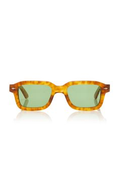 Jacques Marie Mage Sandro Square-frame Acetate Sunglasses In Brown Art Deco Room, Logo Stamp, Sandro, Army Green, Eyewear, Mirrored Sunglasses, Women Wear, Hollywood, Retro