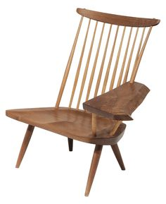 George Nakashima Free-Edge Writing-Arm Windsor Chair for the southpaw in your life.  To be auctioned on September 12, 2015 at Brunk Auctions