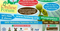 Social Media Dialogue on Food Security  #Agriculture in #Nigeria by @hedagenda #HungerPalava #wetinUthink