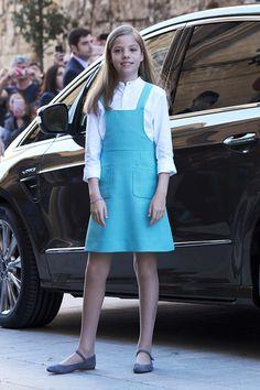1 April 2018 — Infanta Sofía   Spanish Royals Attend Easter Mass in Palma de Mallorca, Spain