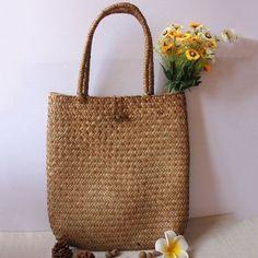 Chic Straw Handwoven Tote Bag   Beach Bag   Rattan Shopping Bag b749ecfbaa9e1