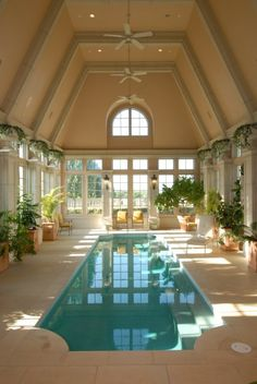 Indoor swimming pool - A New Look at Champ D'Or, Estate of the Day