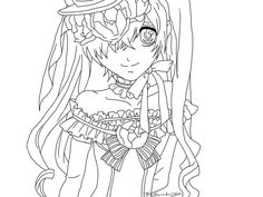 black butler ciel colouring pages coloring page - Black Butler Chibi Coloring Pages