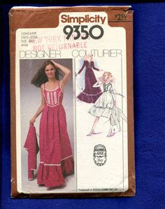 1979 Simplicity 9350 Gunne Sax  Country Western  by MrsWooster