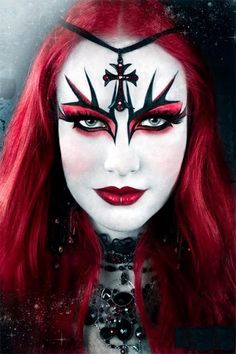 Red Gothic Makeup