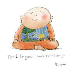 禅 ॐ Ẑƹᘉ ॐ 禅 ~ ╔═════ॐ═Buddha ✽ஜீ✽♅Just BreatheॐSpiritual ḶoveॐCalmॐBalanceॐClarity♅✽ஜீ✽═ॐ════╗ Tiny Buddha, Little Buddha, Buddha Buddha, Buddah Doodles, Buddhist Quotes, Relaxation Meditation, Buddha Quote, Good Thoughts, Illustrations