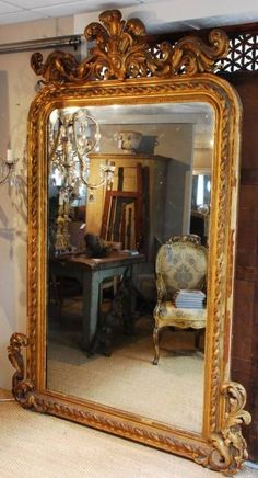 Awesome Large Wall Mirror Decor Ideas Decorating With Large Wall Mirrors Awesome Large Wall Mirror Decor Ideas. Wall mirrors can give a modern look and feel to any area when hung in strateg… Decor, French Mirror, Beautiful Mirrors, French Decor, Mirror Wall Decor, Vintage Mirrors, Through The Looking Glass, Floor Mirror, Wall