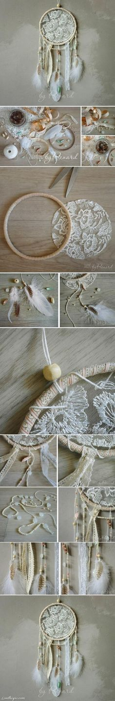 DIY Lace Dream Catcher