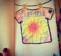 Wreck this journal unique tie die idea