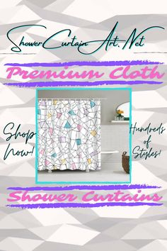 Give your bathroom decor an upgrade with one of our modern fabric shower curtains! Our luxurious high quality fabric shower curtains are all made with 100% premium grade soft polyester cloth. This allows the curtain to drape gracefully while also providing quick drying technology which easily evaporates any unwanted moisture. Shower Curtain Art, Modern Shower Curtains, Fabric Shower Curtains, Bathroom Shower Curtains, Modern Fabric, Fabric Patterns, Custom Fabric, Vibrant Colors, Technology