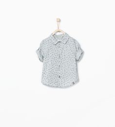Roll-up sleeve printed shirt-Shirts-Baby boy (3 months - 3 years)-KIDS | ZARA United States
