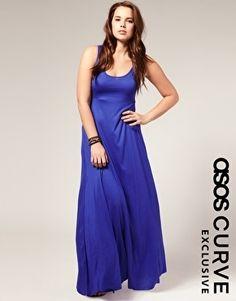 ASOS   ASOS CURVE Exclusive Tank Maxi Dress at ASOS - StyleSays