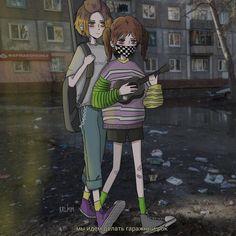 Indie Drawings, Anime Girl Drawings, Pretty Art, Cute Art, Aesthetic Art, Aesthetic Anime, Dark Art Illustrations, Dark Anime Guys, Grunge Art