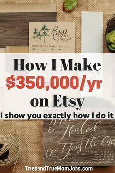 How to sell on etsy successfully from an etsy seller making Online Earning, Earn Money Online, Online Jobs, Earning Money, Online Sales, Selling Online, Etsy Business, Craft Business, Online Business