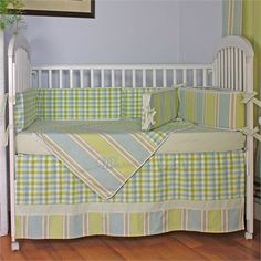 @rosenberryrooms is offering $20 OFF your purchase! Share the news and save!  Master Blue Crib Bedding Set #rosenberryrooms