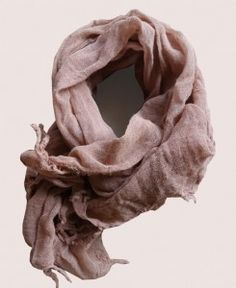 Naturally Dyed Scarf (Mauve Sheer Scarf)