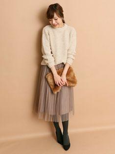 ROSSOグランツリー武蔵小杉店 | kawanoさんのスカート「ROSSO ROSSO チュールプリーツスカート」を使ったコーディネート