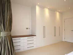 1-bespoke-built-in-fitted-wardrobe-white-chest-drawers-Modern-bedroom-furniture - Bespoke Furniture | fitted wardrobes | walk in wardrobe