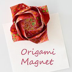 We all love cute magnets, aren't we?   Make a unique origami magnet for your sweetheart (or for yourself)!