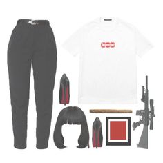 🖤♡️ by leouzivert on Polyvore featuring polyvore fashion style Louis Vuitton Christian Louboutin clothing